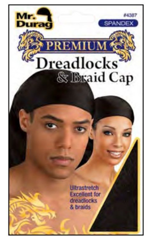 MR.DURAG PREMIUM SPANDEX DREADLOC & BRAID CAP - Textured Tech