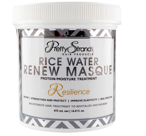 PRETTY STRANDS RICE WATER RENEW MASQUE 16.0 FL oz