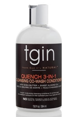 TGIN ROSE QUENCH 3 -IN- 1 CO-WASH COND AND DETANGLER 13FL.OZ - Textured Tech