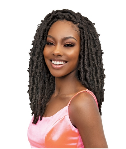 "JANET COLLECTION BUTTERFLY BORN LOCS 14"" - Textured Tech"