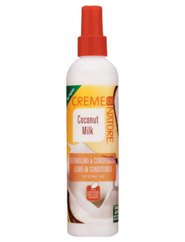 CREME OF NATURE COCONUT MILK DETANGLING LEAVE IN CONDITIONER SPRAY 8.45OZ - Textured Tech