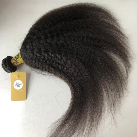 Kinky Straight Human Hair Bundle - Textured Tech