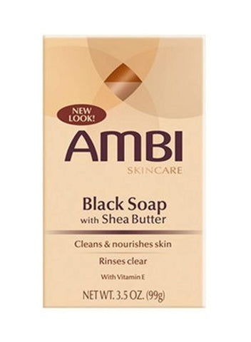 Ambi Black Soapw/Shea Butr 3.5Z - Textured Tech
