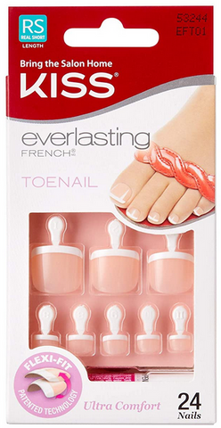 KISS EVERLASTING FRENCH TOE NAILS EFT01 - Textured Tech