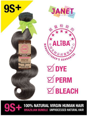 9S+ ALIBA NATURAL BODY WAVE BRAZILIAN BUNDLE 3PCS & CLOSURE - Textured Tech