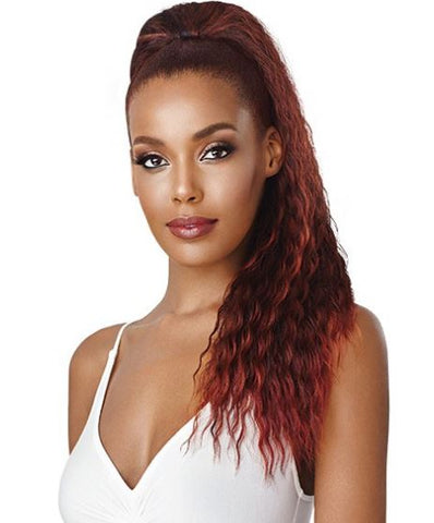OUTRE QUICK PONY AISSATA-DRAWSTRING PONYTAIL - Textured Tech