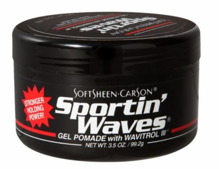 SPORTIN WAVES POMADE[REG/BLAK] 3.5 OZ - Textured Tech