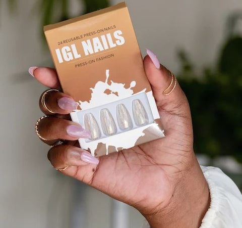 IGL NAILS 24 REUSABLE PRESS-ON-NAILS