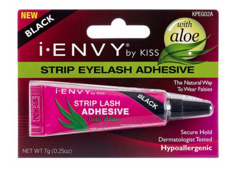 KISS STRIP EYELASH ADHESIVE W/ ALOE BLACK - Textured Tech