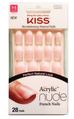 KISS NUDE NAILS 28PCS - Textured Tech