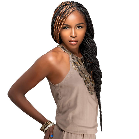 SENSATIONNEL AFRICAN COLLECTION SUPER YAKI PERM BRAIDING HAIR - Textured Tech