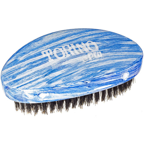 Torino Pro Medium Wave Brush #19 - Curve Palm Medium Hair brush for 360 Waves - Textured Tech