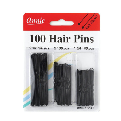 Annie 100 Hair (bobby) pins Ball Tipped #3317