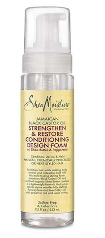 SHEA MOISTURE STRENGTHEN AND RESTORE DESIGN FOAM - Textured Tech