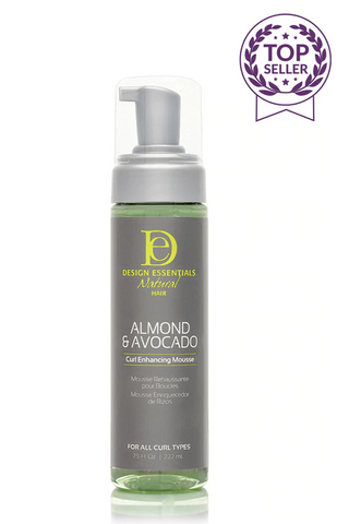 DESIGN ESSENTIALS ALMOND & AVOCADO CURL ENHANCING MOUSSE - Textured Tech