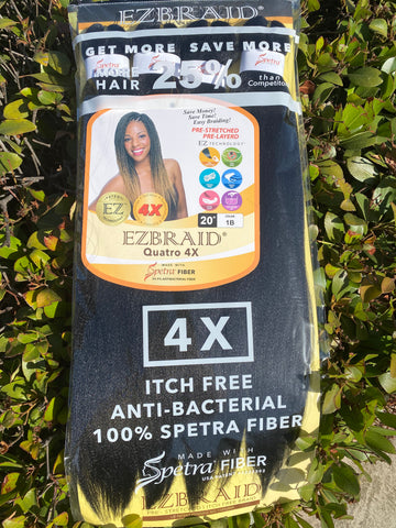 "EZ BRAID HAIR 4X 20"" Quattro Pack 20"" - Textured Tech"