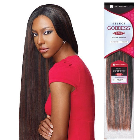 "SELECT GODDESS REMI HUMAN HAIR YAKI 1B/30 12"" - Textured Tech"