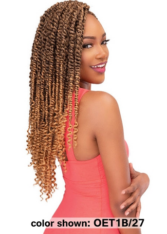 "Janet Collection Nala Tress PASSION TWIST Crochet Braid 18"" - Textured Tech"