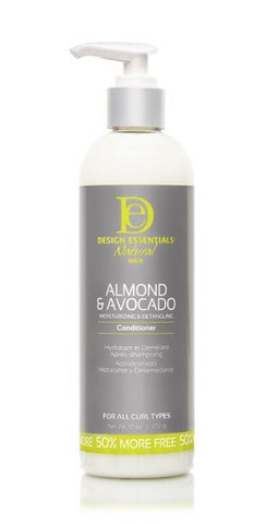 DESIGN ESSENTIALS ALMOND AND AVOCADO MOISTURIZING AND DETANGLING CONDITIONER - Textured Tech
