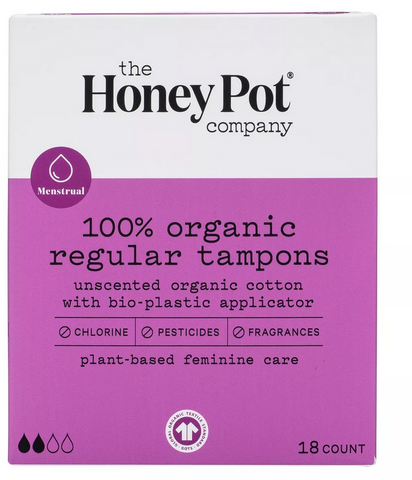 THE HONEY POT COMPANY 100% ORGANIC REGULAR TAMPONS - Textured Tech