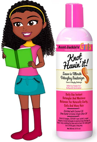 AUNT JACKIE'S GIRLS KNOT HAVIN IT LEAVE IN DETANGLING MOISTURIZER 12OZ - Textured Tech