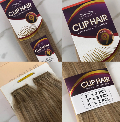 CLIP-ON EXTENSION 100% REMY HUMAN HAIR - Textured Tech