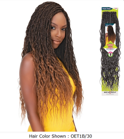 "Janet Collection Crochet Braids Nala Tress Messy Box Braid 24"" - Textured Tech"