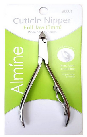 CUTICLE NIPPER FULL JAW 8MM - Textured Tech