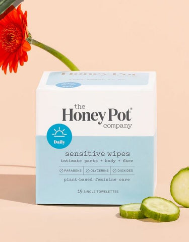 THE HONEY POT SENSITIVE WIPES - Textured Tech