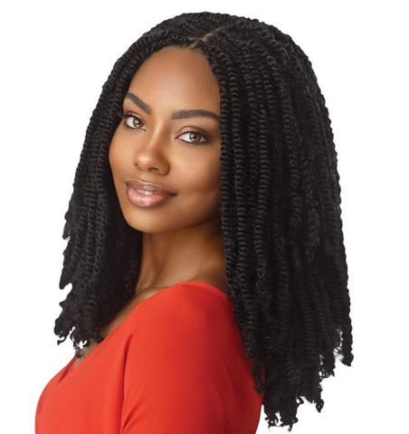 "OUTRE X-PRESSION TWISTED UP CROCHET BRAID - 3X SPRINGY AFRO TWIST 24"" - Textured Tech"