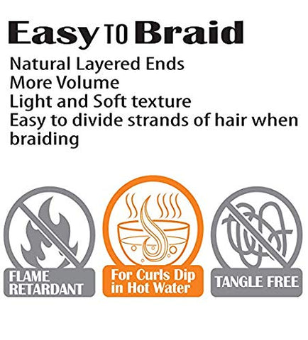"EVE HAIR Prestretched Quick Braid 48"" - Textured Tech"