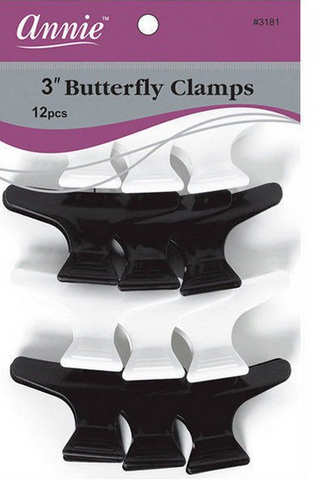 "ANNIE 3"" BUTTERFLY CLAMPS 12ct - Textured Tech"