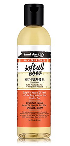 AUNT JACKIES SOFT ALL OVER FLAXSEED MULTI PURPOSE OIL - Textured Tech