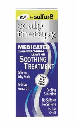 SULFUR 8 MEDICATED DANDRUFF CONTROL LEAVE IN SOOTHING TREATMENT 2.5OZ - Textured Tech