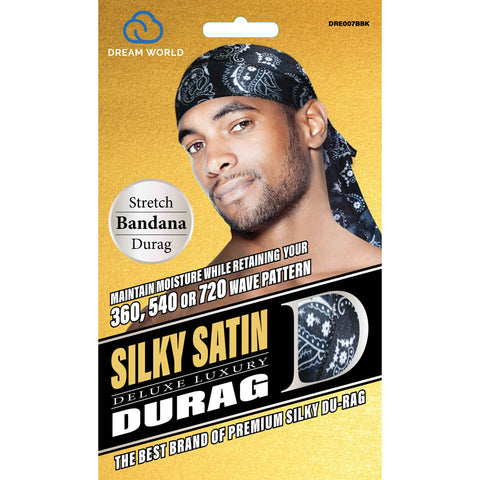 DREAM WORLD SILKY SATIN DELUXE DURAG - Textured Tech