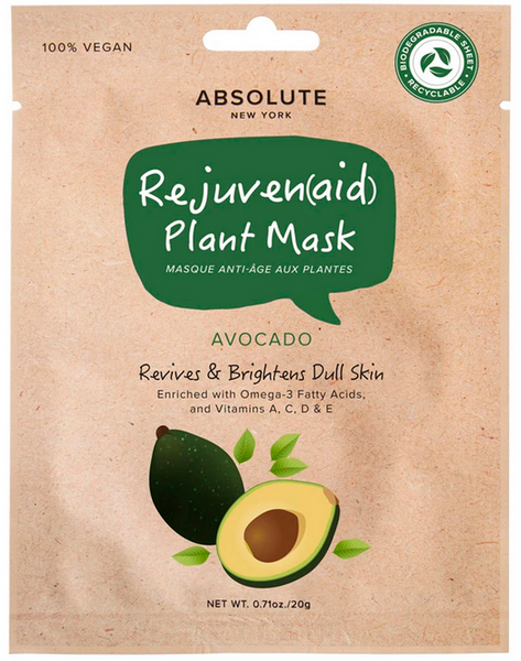 ABSOLUTE NEW YORK REJUVENAID PLANT MASK AVOCADO
