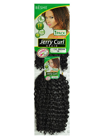 BESHE Brazilian Jerry Curl Braid - Textured Tech