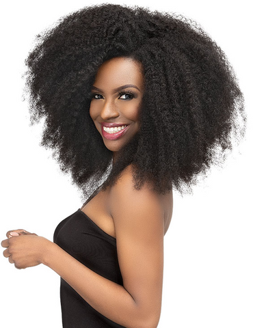 "ENCORE LA VIE 4C AFRO KINKY HUMAN HAIR BLEND CLIPINS 18"" 8PCS - Textured Tech"