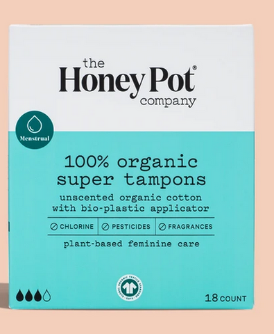 THE HONEY POT COMPANY 100% ORGANIC SUPER TAMPONS - Textured Tech