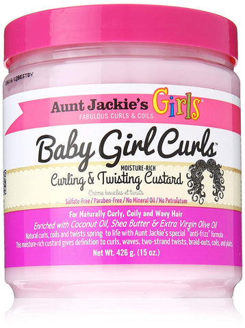 AUNT JACKIES GIRLS BABY GIRL CURLS CURLING AND TWISTING CUSTARD - Textured Tech