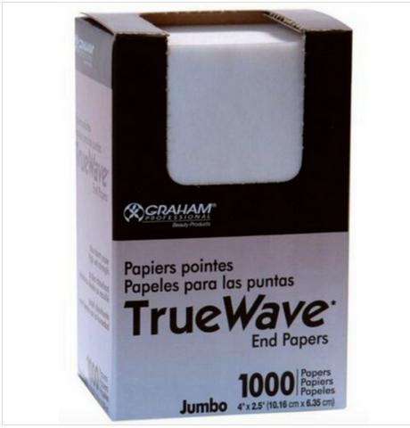 TRUE WAVE END PAPERS 1000 CT JUMBO SIZE - Textured Tech