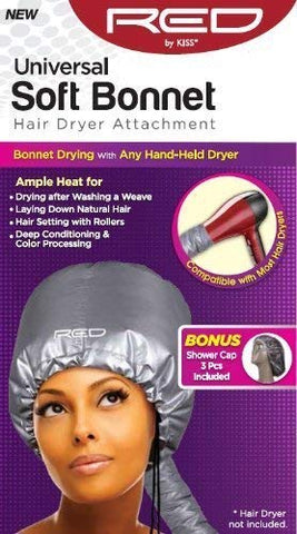 RED BY KISS UNIVERSAL SOFT BONNET HAIR DRYER ATTACHMENT - Textured Tech