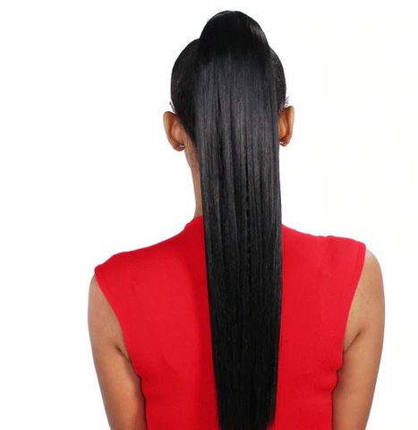 "CASABLANCA WRAP PONYTAIL -SILKY STRAIGHT 18"" - Textured Tech"