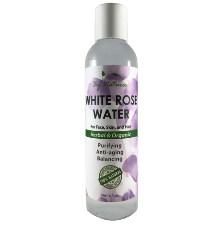 BY NATURE'S WHITE ROSE WATER FOR FACE,SKIN, AND HAIR  HERBAL & ORGANIC - Textured Tech