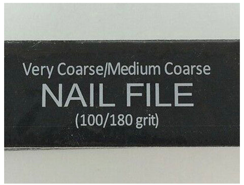 WIDE ALMINE  NAIL FILE 100/180 GRIT (One piece) - Textured Tech