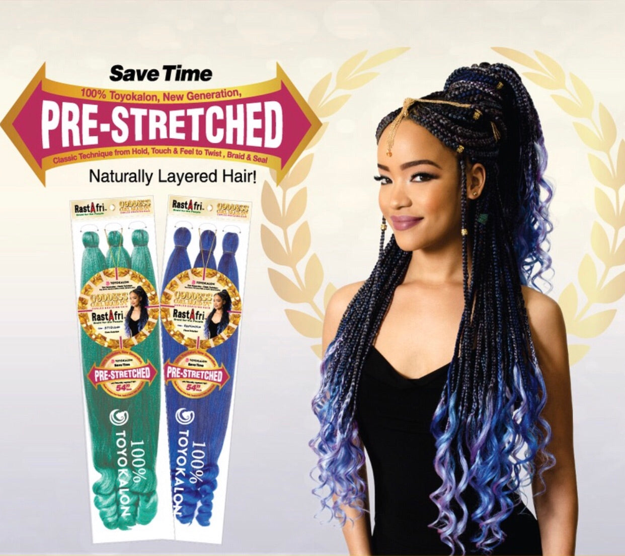 "RastaFri Goddess Curl Braid 54"" PreStretch"