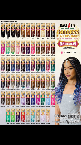 "RastaFri Goddess Curl 40"" Braid Hair - Textured Tech"