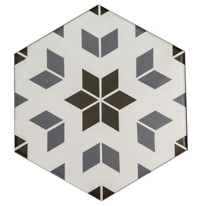 Hexagon Mix Decor Porcelain Wall & Floor Tiles 20x23