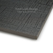 Canvass Black Glitter Semi Polished Designer Porcelain Wall & Floor Tiles