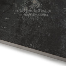 Fusion Black Semi Polished Metallic Porcelain Wall & Floor Tiles SQM